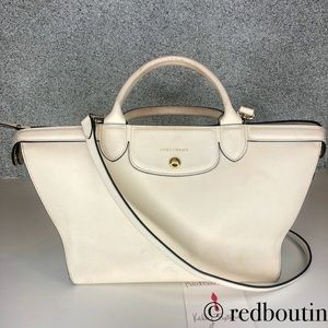 Longchamp Pliage Heritage Cream Saffiano Leather